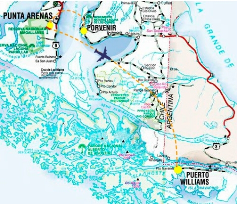 Mapa Vuelo PUQ - PWL